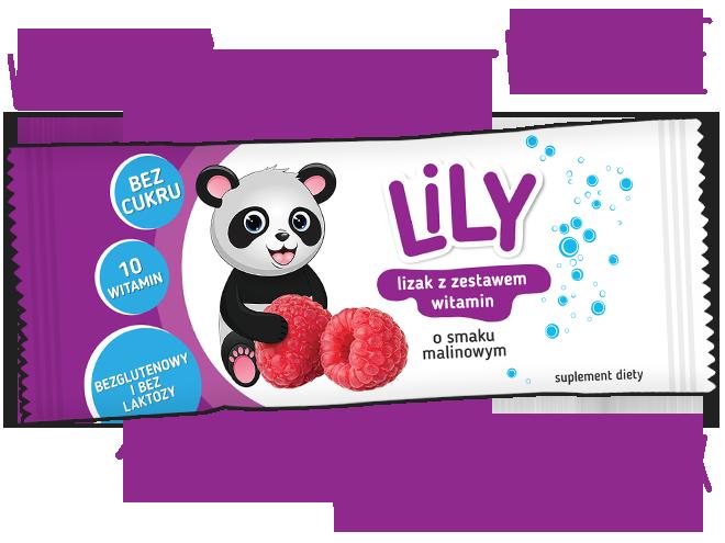 Lizak z zestawem 10 witamin o smaku malinowym